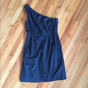 J. Crew Black One Shoulder Dress, Size 10